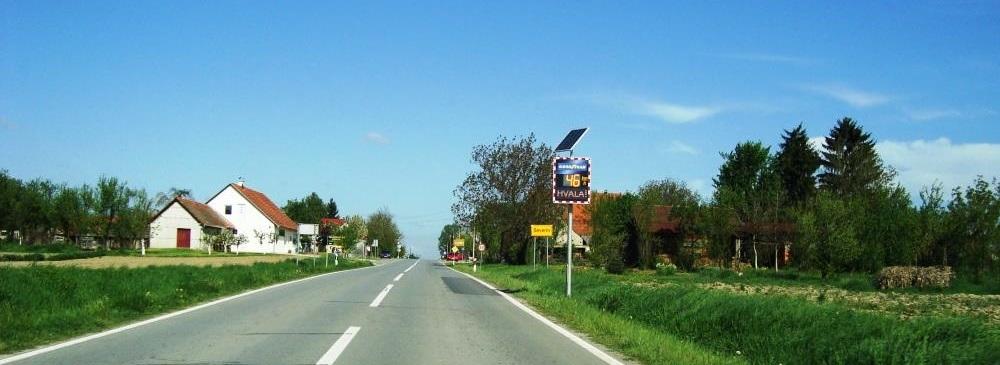Pokazivač brzine na ulazu u Severin